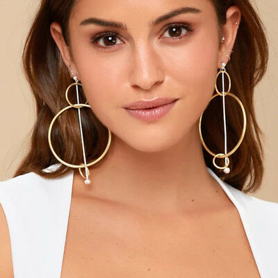 2018 Fashion Jewelry Big Hoop Earrings Silver/Gold Large Circle Round Earrings