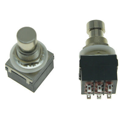 KAISH2pcs 9-Pin Black3PDT Guitar Effects Pedal Box Stomp Foot Switch True Bypass