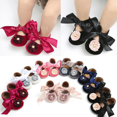 Newborn Baby Girl Bandage Velvet Shoes Toddler First Walkers Formal Shoes Cute P