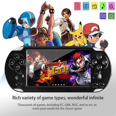 128 Bit 8GB X9 Handheld Game Console Video MP4 MP5 Player Built-in 10000 game US
