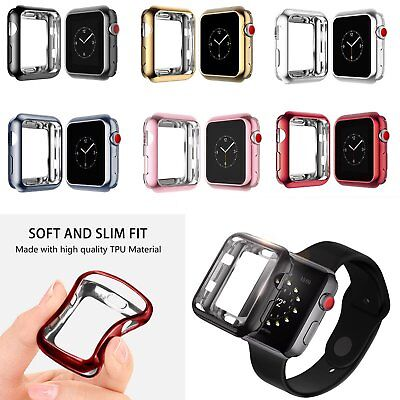 Soft Bumper Protective Sports Cover Case For iWatch Apple Watch Series 4 40/44MM