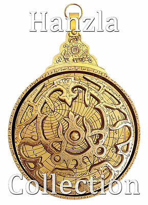 "Navigation Astrological Shiny Brass Astrolabe 5"" Arabic Islamic Calendar Gifted"