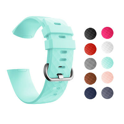 Replacement Soft Silicone Rubber Wrist Band Strap Bracelet For Fitbit CHARGE 3