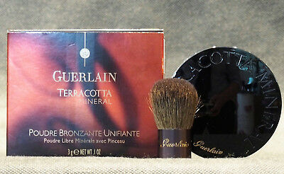 GUERLAIN TERRACOTTA MINERAL 03 DARK 3g/NET WT .1OZ. LOOSE POWDER WITH BRUSH