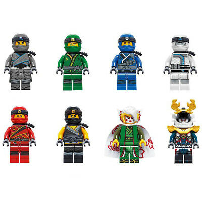 UK 8Pcs Ninjago Mini figure for Lego TOY Zane Jay Harumi Kai Nya Building Blocks
