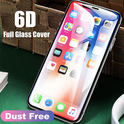 2PCS For iPhone X XS Max XR 6D 9H Full Coverage Tempered Glass Screen Protector