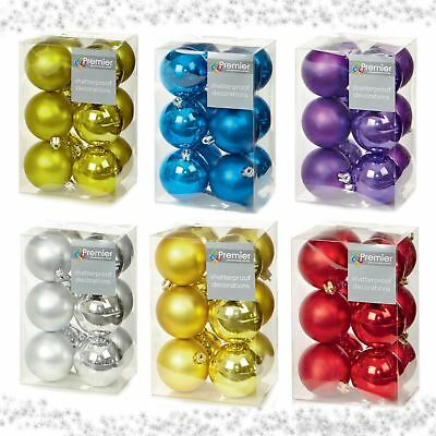 30-80Mm Christmas Tree Baubles Xmas Decoration Bauble Shatterproof Glitter By