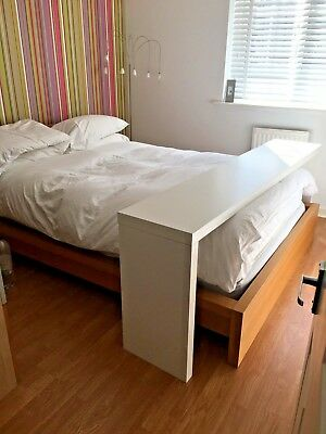 Ikea Malm Over Bed Table With Wheels White Great Condition 50 00