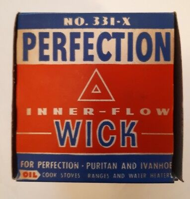 """Rare American (Cleveland) """"perfection Inner Flow Wick"""" With Box & Wick Unused(?)"""