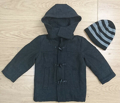 Name It Baby Boy Coat Age 18-24 Months Thick Formal Wool Jacket Hat