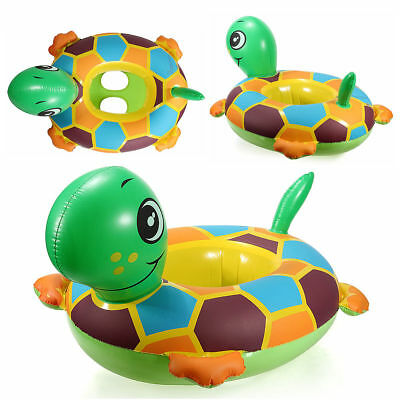 INFLATABLE BABY FLOAT SEAT BOAT BEACH CAR SUN SHADE WATER SWIMMING POOL Tortoise