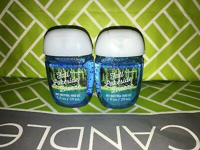 Fall Lakeside Breeze 2x Bath & Body Works Anti Bacterial Hand Gel RARE Scent