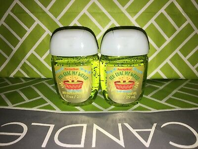 You Guac My World 2x Bath & Body Works Anti Bacterial Hand Gel RARE Scent