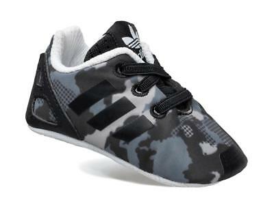 New adidas Originals ZX Flux Camo Crib Shoes Trainers UK 2 - 5 Infant baby