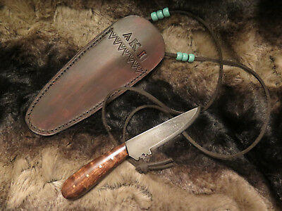 Early 1700s Native American and French Style Woodland Fur Trade Neck Knife