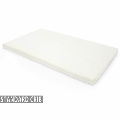 NEW! Memory Foam Crib Mattress Topper with Waterproof Cover - For Standard Cribs