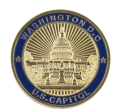 Washington DC Coin US Capitol Building USA America United States Gold Coin