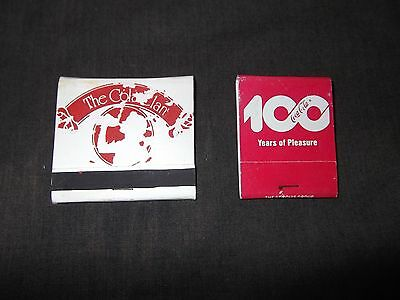 Coca Cola Coke Matchbook Lot Of  2 Books Vintage Matches Clan Enjoy 100 Years