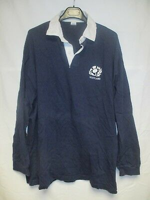 Maillot rugby ECOSSE vintage SCOTLAND shirt collection ancien coton 80's XXL
