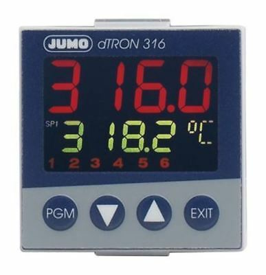 Jumo dTRON PID Temperature Controller, 48 x 48 (1/16 DIN)mm, 1 Output Analogue,