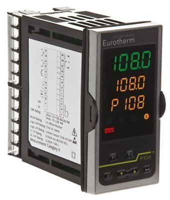 Eurotherm P108 PID Temperature Controller, 48 x 96mm, 2 Output Logic, Relay, 24