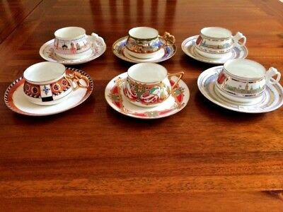 Bone China Tea/Coffee 6 Cups and Saucers. St.Petersburg Lomonosov Imperial China