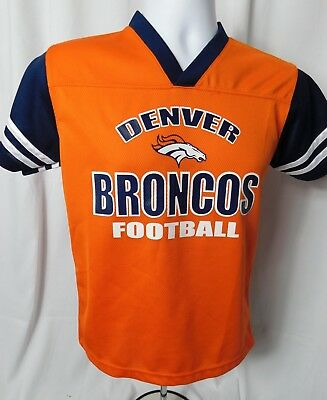 NFL Denver Broncos Colorado Football Team OrangeGraphic Jersey Youth  Size 10-12