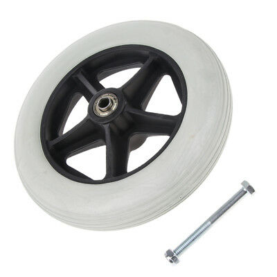 8 Inch Solid Tyre Front Caster Walking Aids Wheelchairs Replacement Wheel