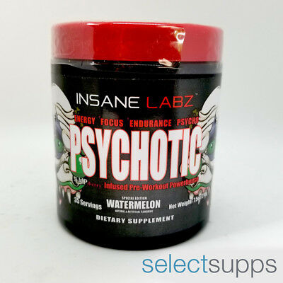 Psychotic Pre-Workout - Watermelon - 35 Servings by Insane Labz