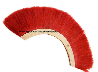 RED PLUME CREST BRUSH For ROMAN ARMOR HELMET, Medieval helmet, Hair