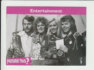 Pop Group : ABBA :  Picture This game card - UK edition