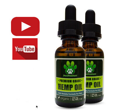 PawPerfect Premium Organic Hemp Oil For Dogs Cats Pets - Anti Anxiety/Calming