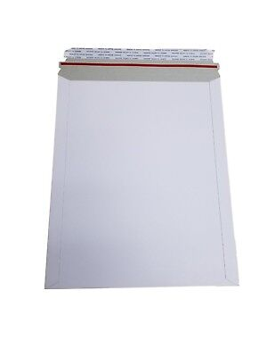 Pick Quantity 1-2000 Stay Flats Plus Envelope 12.75x15 White RIgid Sturdy Mailer