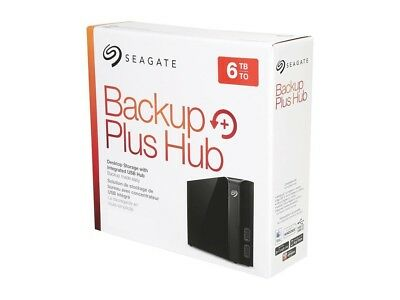 Seagate 6TB Backup Plus Hub USB 3.0 Desktop 3.5 Inch External HD for PC/Mac