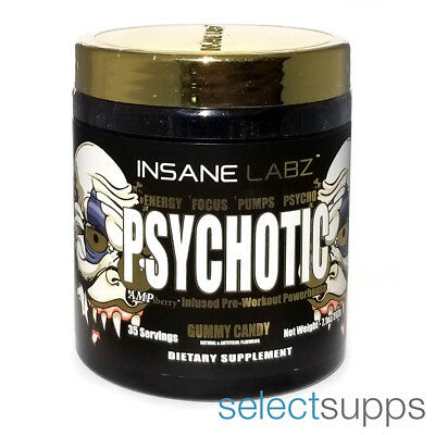 Psychotic Gold Pre-Workout - Gummy Candy - 35 Servings by Insane Labz