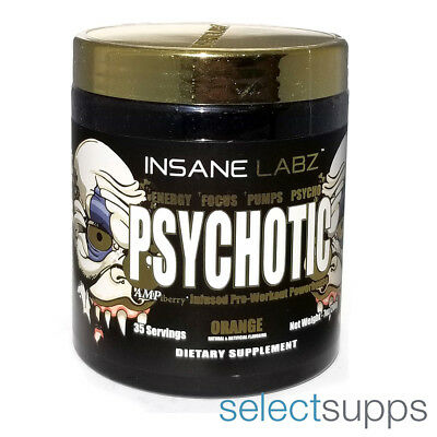 Psychotic Gold Pre-Workout - Orange - 35 Servings by Insane Labz