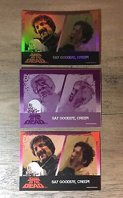 Dawn Of The Dead Trading Cards Printing Plate Say Goodbye,Creep Fright-Rags