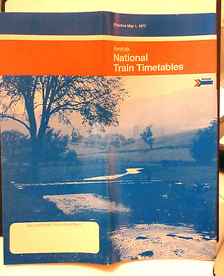 AMTRAK  National Timetable,  5-1-1977