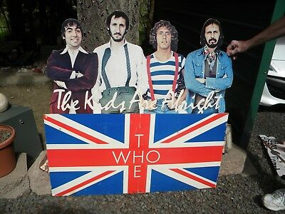 """The Who Promotional Display Cardboard Cutout Store Display 1979 RARE!  44"""" x 44"""""""