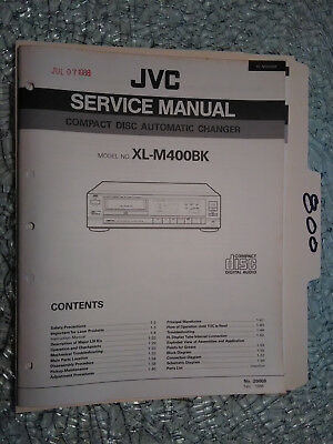 jvc xl m400 bk service manual original repair book stereo cd player rh picclick com jvc 200 cd changer manual jvc 200 cd changer manual