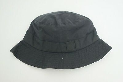 Mens Barbour Bucket Waxed Hat Navy Size S