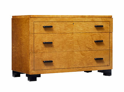 Art Deco Birch Chest Of Drawers