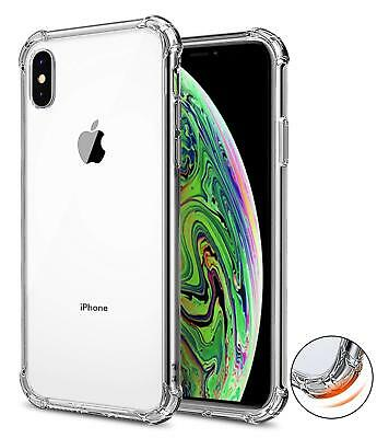 For iPhone XS Max XR Clear Transparent Shockproof TPU Bumper Case Cover