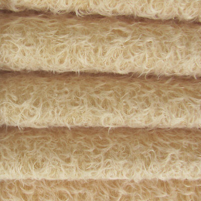 "1/6 yd 325S/CM Buttercup INTERCAL 5/8"" Semi-Sparse Curly Matted Mohair Fabric"