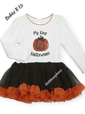 "Koala Baby ""My First Halloween"" Tutu Dress  W/Sequin Pumpkin New Tags 0/3, 3/6 M"