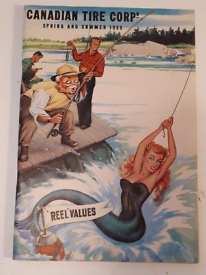 "Rare Canadian ""canadian Tire Corp. 1955 Spring & Summer Catalogue- Excellent"