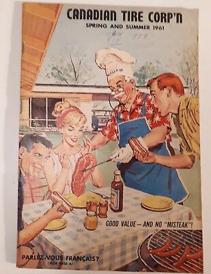 "Rare Canadian ""canadian Tire Corp. 1961 Spring & Summer Catalogue- Excellent"