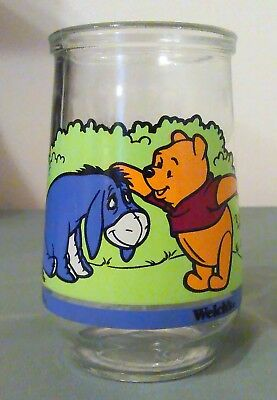 Vintage Disney Winnie the Pooh & Eeyore Welch's Jelly Glass/Jar