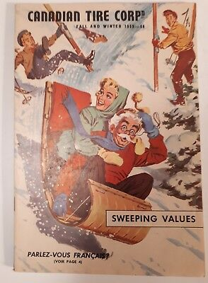 "Rare Canadian ""canadian Tire Corp. 1959-60 Fall And Winter"" Catalogue- Excellent"