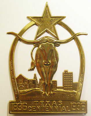 Original Texas Centennial Radiator Ornament 1936 Ford and Others